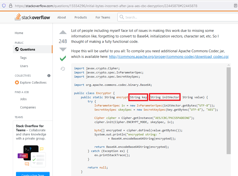 If you copied any of these popular StackOverflow encryption code snippets, then you coded it wrong